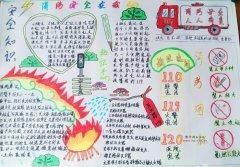 五年级消防安全知识手抄报模版_好看消防小报图片
