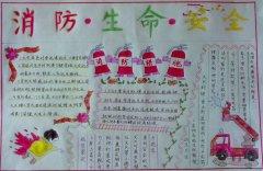 小学生119消防安全手抄报模版_森林防火手抄报图片