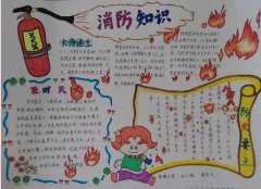 简单漂亮消防安全知识手抄报模板_消防安全小报图片