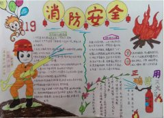 小学生远离火灾手抄报内容资料_消防安全手抄报图片