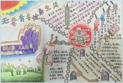 六年级远离毒品手抄报版面设计图_禁毒手抄报图片