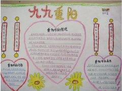六年级九九重阳节习俗手抄报内容 重阳节手抄报图片