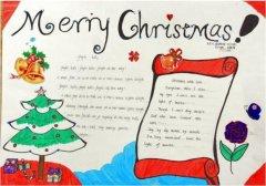 英文圣诞手抄报内容模板简单漂亮_圣诞手抄报图片