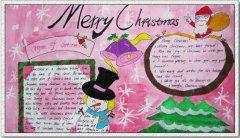 英文Merry Christmas圣诞手抄报模板_圣诞节手抄报图片