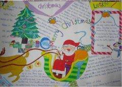 初中圣诞节英文手抄报模板漂亮_圣诞节手抄报图片