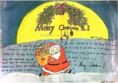 三年级Merry Christmas圣诞手抄报模板_圣诞手抄报图片