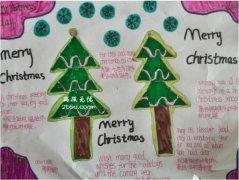 六年级Merry Christmas圣诞树手抄报内容_圣诞节小报图片