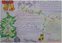 获奖圣诞节手抄报模板简单漂亮_圣诞节手抄报图片