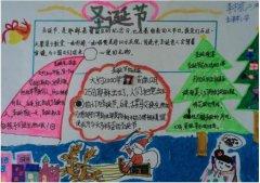圣诞节的由来手抄报内容简单漂亮_圣诞手抄报图片