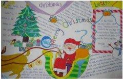 七年级关于圣诞节手抄报模板漂亮_圣诞节小报图片
