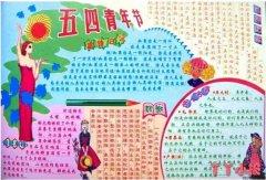 关于五四青年节获奖手抄报内容模板简单漂亮