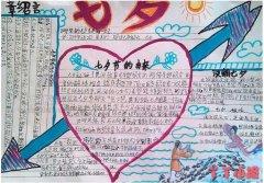 关于七夕节由来的获奖手抄报模板简单漂亮