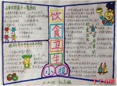 三年级饮食卫生常识手抄报模板设计图简单