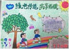 小学生绿色传递共享低碳手抄报怎么画简单好看