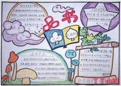 小学生品书书香关于读书手抄报怎么画好看