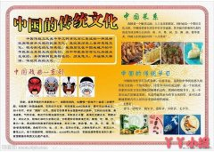 高中生中国传统文化手抄报怎么画简单好看