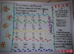 简单汉字的演变语文手抄报怎么画四年级