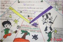 走进汉字王国语文汉字手抄报怎么画五年级
