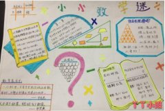 小小数学迷,奇妙数学手抄报内容图片四年级