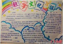 小学数学文化,数学天地手抄报简笔画怎么画