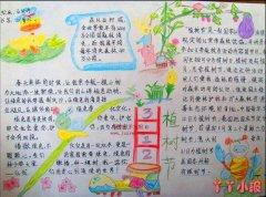 小学生312植树节手抄报简笔画怎么画一等奖