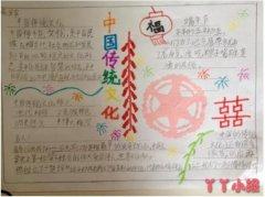 三年级中国传统文化端午节手抄报图片简单好看