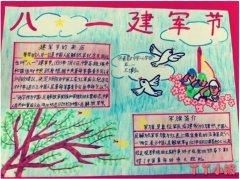 八一建军节手抄报简笔画怎么画一等奖五年级