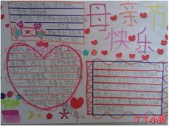 母亲节快乐感恩母亲手抄报内容图片一年级