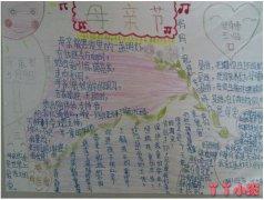 三年级庆祝母亲节手抄报内容资料简单