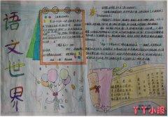 七年级语文世界手抄报怎么画简单漂亮一等奖