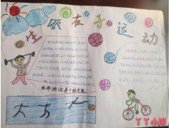 二年级生命在于运动,生活运动手抄报模板图片