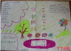 三年级保护环境手抄报简笔画怎么画