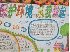 小学生保护环境从我做起手抄报简笔画怎么画一等奖
