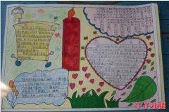 红烛颂教师节手抄报怎么画小学生