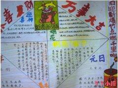 小学生牛年春节习俗手抄报怎么画简单好看