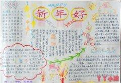 新年好小报春节习俗写春联手抄报怎么画小学生