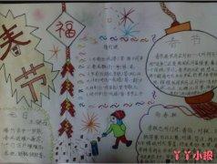 春节到祝福小报手抄报怎么画简单好看