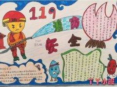 六年级关于消防安全手抄报简单漂亮
