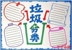 优秀垃圾分类手抄报模板设计图简单漂亮小学生