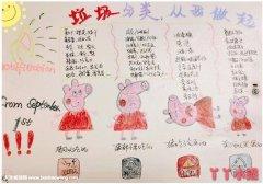 关于小猪佩奇垃圾分类手抄报简单漂亮小学生