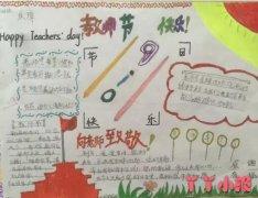 简单教师节快乐手抄报模板图片