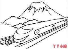 复兴号简笔画手绘怎么画简单好看 高铁简笔画图片