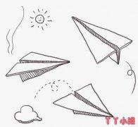 儿童节玩纸飞机的画法简单 儿童节简笔画图片