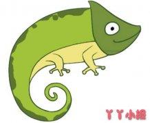 卡通蜥蜴简笔画图片 蜥蜴怎么画简单漂亮