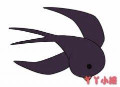 怎么画卡通小燕子简笔画步骤图解涂色简单又漂亮