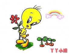 卡通小黄鸭怎么画涂色 小黄鸭简笔画图片