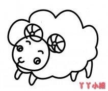 怎么画可爱小绵羊简笔画教程铅笔画