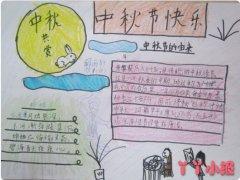 中秋节主题手抄报作品欣赏一等奖简单漂亮