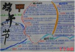 六年级端午节来历手抄报版面设计图