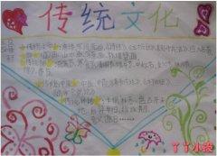 唐诗宋词传统文化手抄报模板简单漂亮